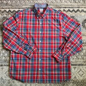 Bonobos Standard Fit Red Plaid Button Down XXL